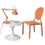 Tabitha Table, Isabella Chair, Lalla Lamp