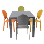 Abby Dining Table + Isabella Chairs