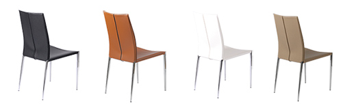 Max Chairs in Four Colors - Black, Cognac, White and Tan