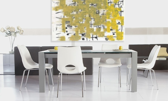 Dario Extension Table + Lara Side Chairs