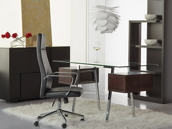 Collette Desk + Napoleon High Back Office Chair